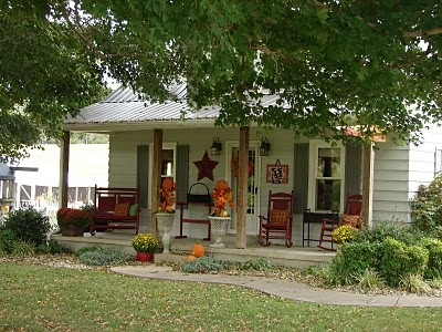 I love a country porch, especially in Fall.