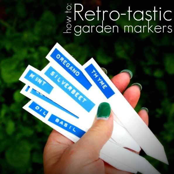How-To: Retro-Inspired Garden Markers