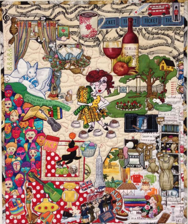 175 best Collage quilts images on Pinterest   Buttons ideas, Candy ... : photo collage quilt - Adamdwight.com