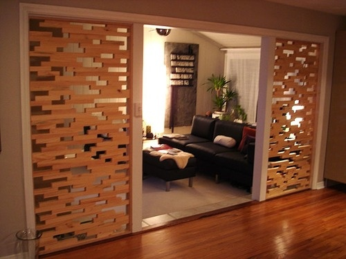 artstallations - Filed under 'wood art' - would love this as a sliding screen
