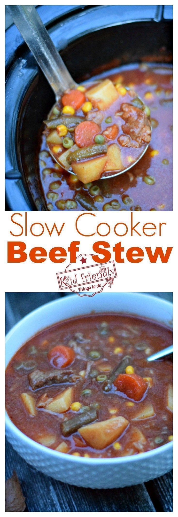The Best Crockpot Beef Stew Recipe - Old Recipe - Easy to Make - You can also make this on the stovetop - The perfect comfort food - Healthy and Simple to make and so delicious. www.kidfriendlythingstodo.com