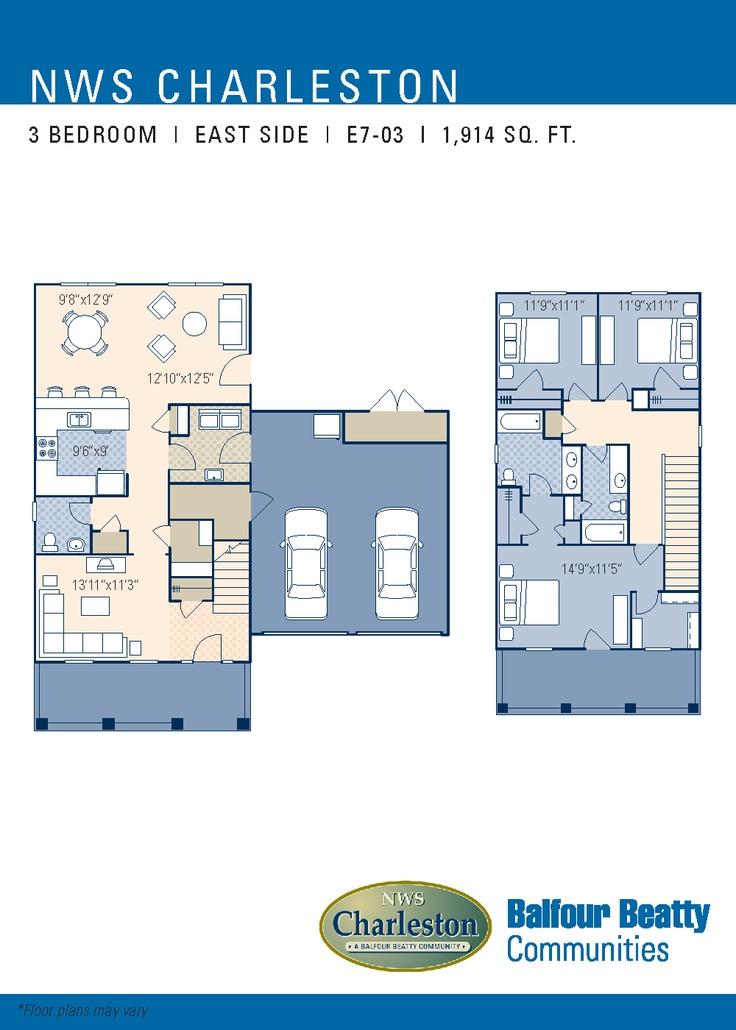 Jb Charleston Eastside Neighborhood Floorplan 3 Bedroom