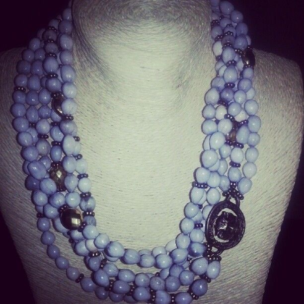 Grey Zulu pearls with gold coins