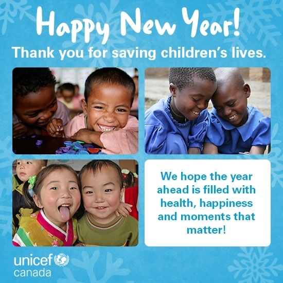 Happy New Year from UNICEF Canada!