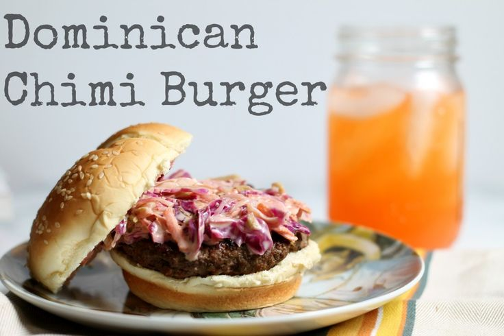 Dominican Chimi Burgers | recipe from Cooking with Books