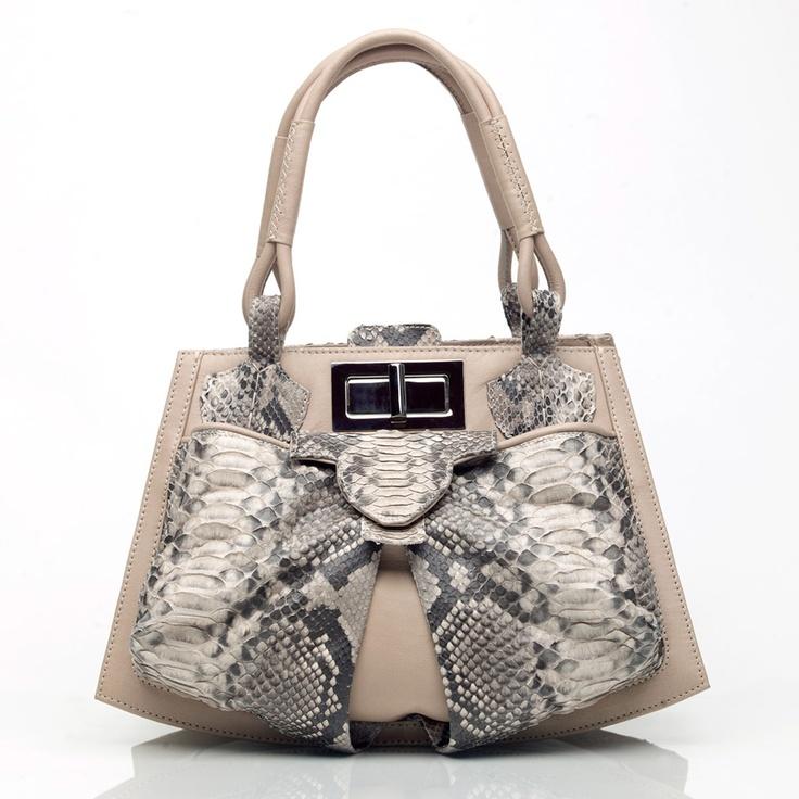 Bowgard bag in diamond python by Anya Sushko