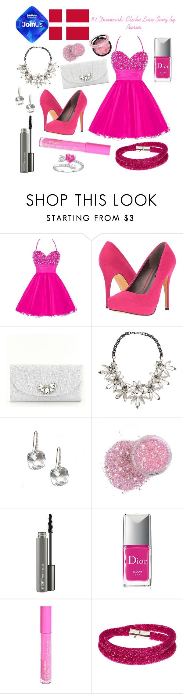 """Denmark Eurovision 2014"" by grace-buerklin ❤ liked on Polyvore featuring Michael Antonio, Kate Landry, John Lewis, MAC Cosmetics, Christian Dior, L.A. Colors, Swarovski and Eurovision2014"