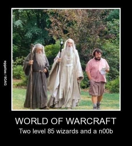 World of Warcraft oh goodness. that's funny but we don't have wizards in wow, just roll with it.