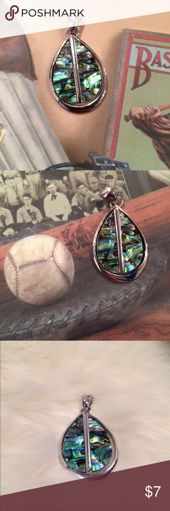 """Lia Sophia Abalone Slide GUC, minimal scratches on back due to general use. Approximately 2"""" in length. No designer stamp. 🚫NO OFFERS 💰I offer a 10% bundle discount on 3 or more items. Lia Sophia Jewelry"""