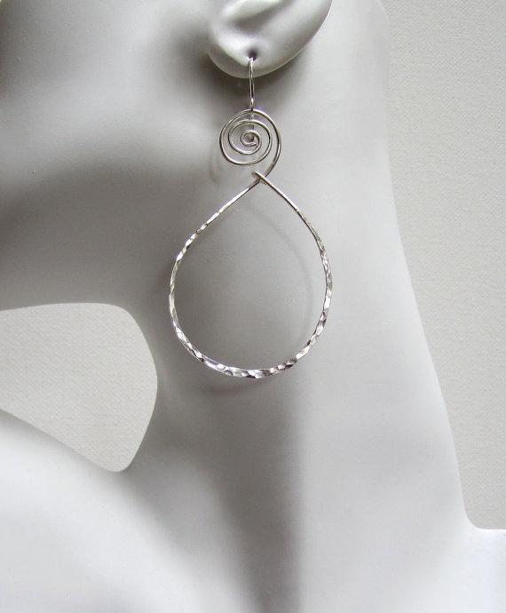 Hoop Earrings Sterling Silver Jewelry by BelleAtelierJewelry, $44.00 Simply Fabulous!