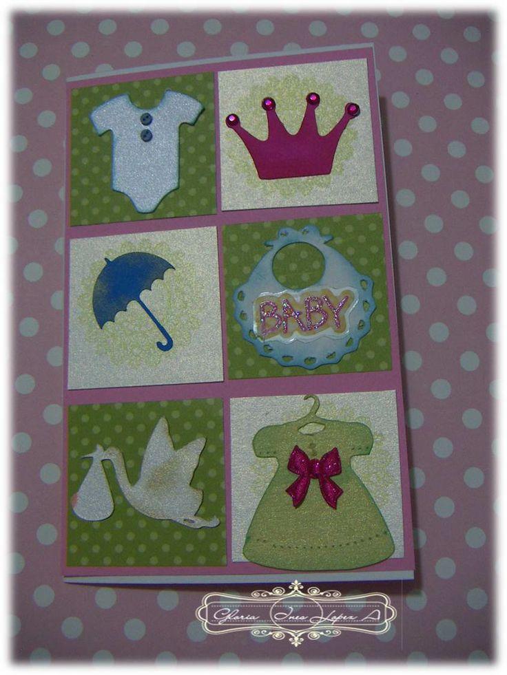 tarjeta llegada bebe niña