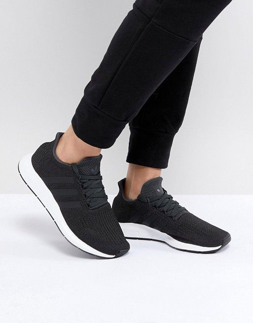 da3447fb1b5 adidas Originals Swift Run Trainers In Black | look good feel good ...