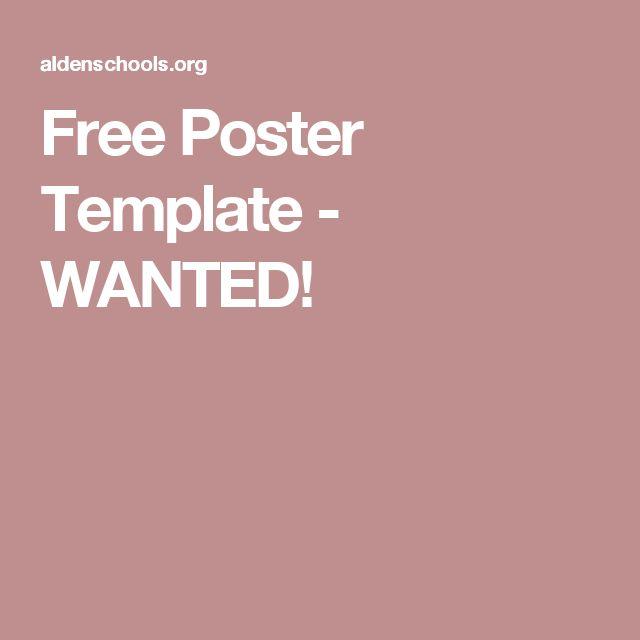 25+ ide Free poster templates terbaik hanya di Pinterest - free wanted poster template