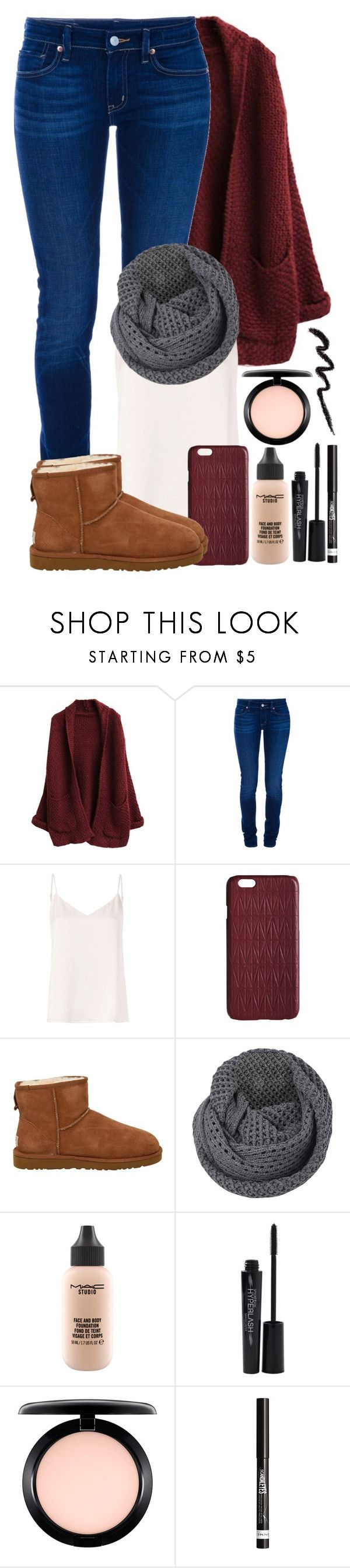 """#27"" by oneandonlyfashion ❤ liked on Polyvore featuring Ralph Lauren, L'Agence, Dagmar, UGG Australia, French Connection, MAC Cosmetics, Smashbox and Rimmel"
