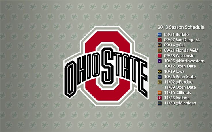 2013 Ohio State Buckeyes Football Schedule