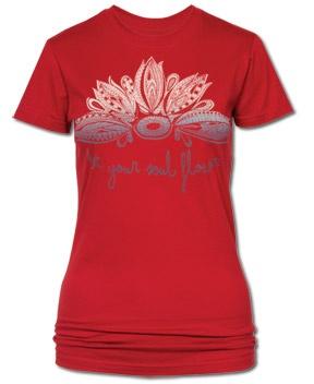 SoulFlower-Let Your Soul Flower Organic Women's T-Shirt-$24.00 #everydaybliss
