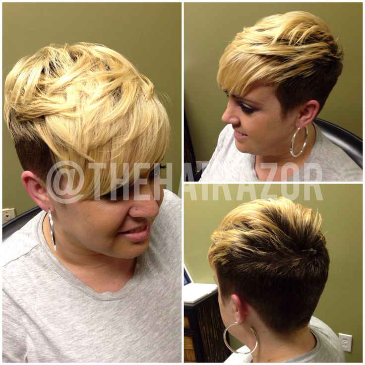 Short hairstyle. OMG, this is my hair! I must be setting a trend with my crazy new bad hair cut.