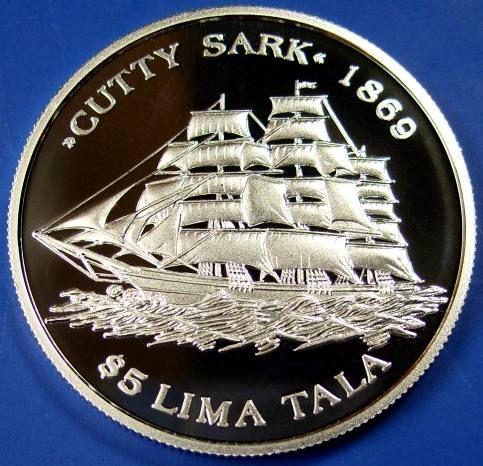 Tokelau, $5, 2005.  Cutty Sark.