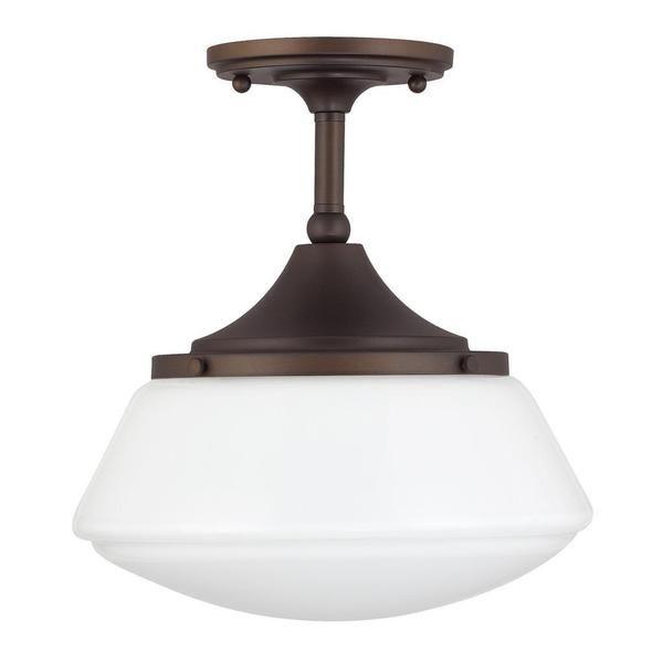 Capital lighting retro school house collection 1 light burnished bronze flushmount