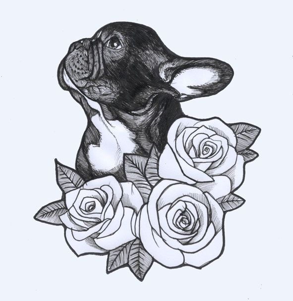 French Tattoo Ideas: French Bulldog Sketch By Jeroen Teunen. Tattoo Design