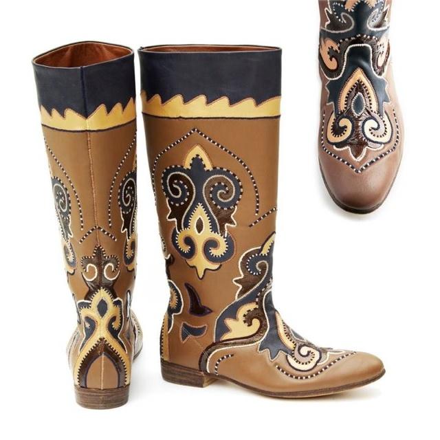 Tatar national ornament boots - chitekler - beautiful !!!:)