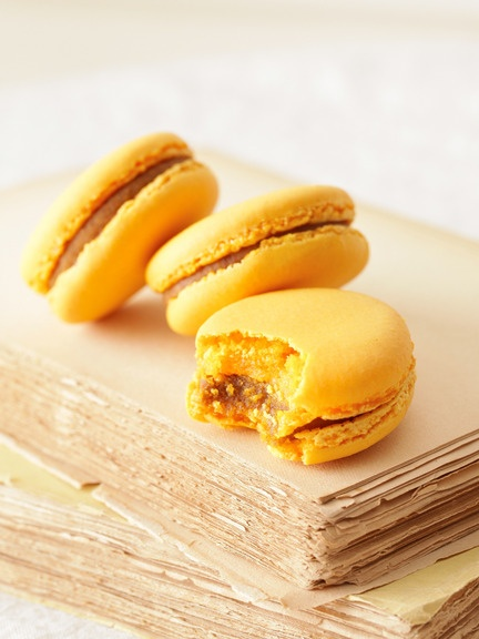 might break my macaron fast for these: Payard's pumpkin macarons.