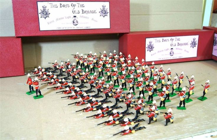 LANGLEY MODELS The BOYS of the old BRIGADE ROYAL MARINE LIGHT INFANTRY c 1900 my #BRITAINS