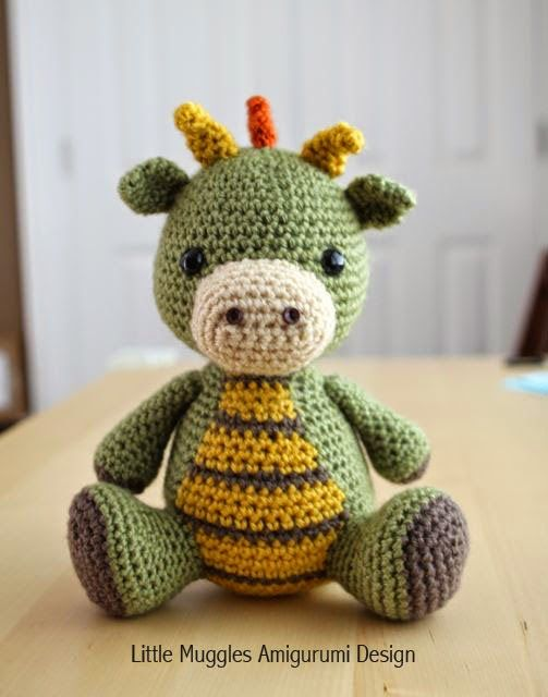 Crochet Spike the Dragon by Little Muggles