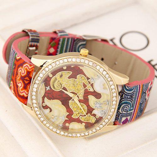 Fashion ρολόι κριάρι σε ροζ χρώμα
