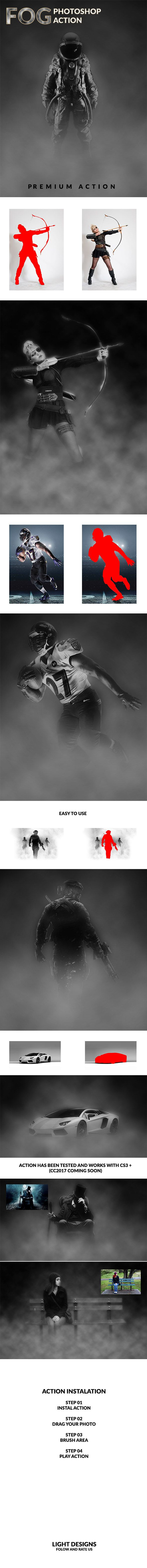 Fog  Photoshop Action — Photoshop ATN #effect smoke #sand • Download ➝ https://graphicriver.net/item/fog-photoshop-action/20368362?ref=pxcr