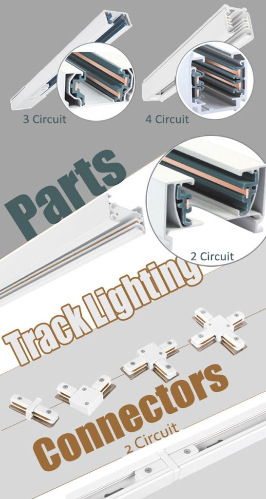 7 best track lighting images on pinterest track lighting homemade track lighting parts accessaries 2 3 4 circuit track lighting parts connectors aloadofball Choice Image