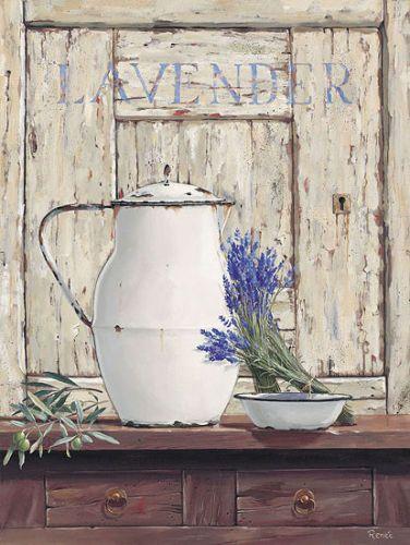 Renee-Still-Life-Lavender-III-Stillleben-Lavendel-Fertig-Bild-40x50-Wandbild