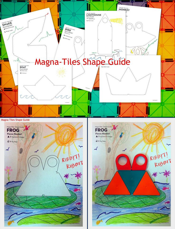 Visit www.magnatiles.com to print and play with Magna-Tiles Shape Guides!