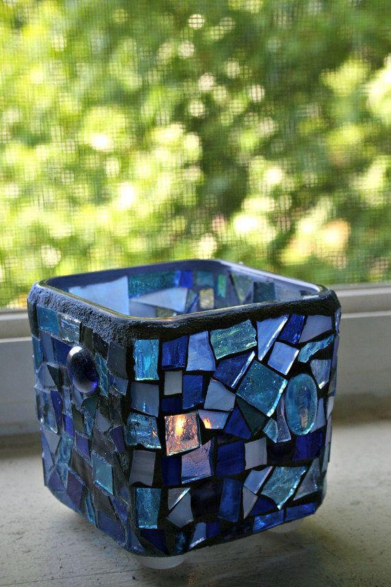 Leaving Etsy on Oct 29th - Expiring Soon - Etsy Mosaic Candle Holder by earthmothermosaics