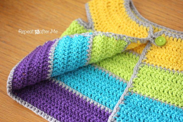 Repeat Crafter Me: Cap Sleeve Cardigan Crochet Pattern
