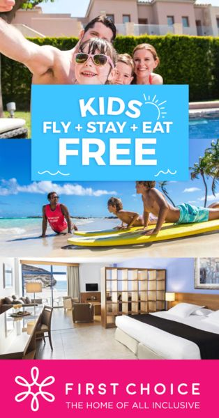 Check out all the FREE Child Places including Flights on Inclusive Holidays at First Choice!