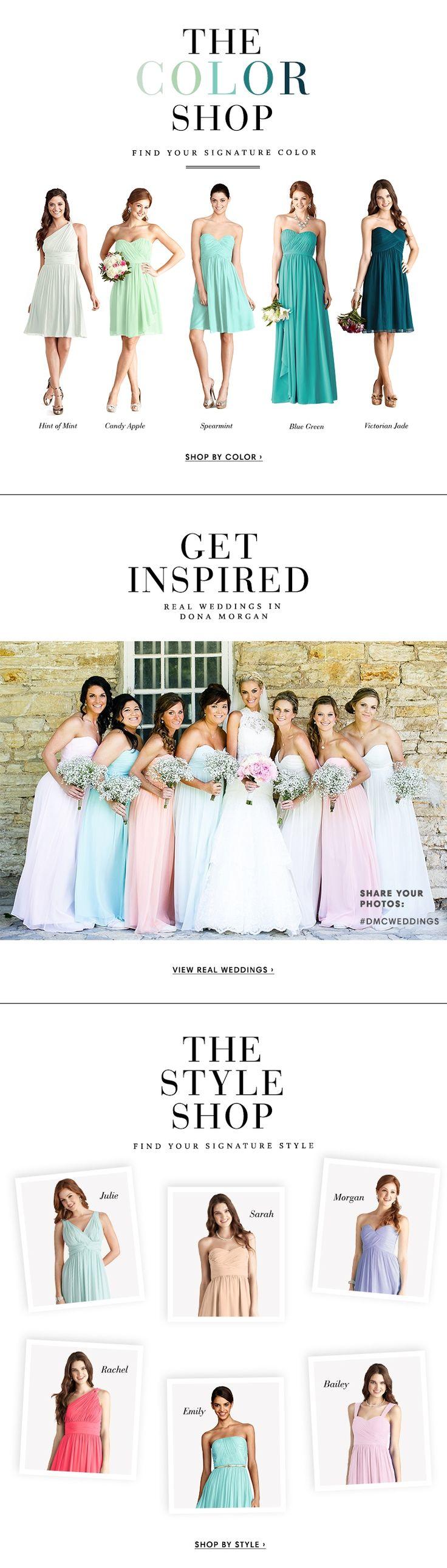 Donna Morgan Collection | Shop by color #wedding #bridesmaids #bridesmaiddress