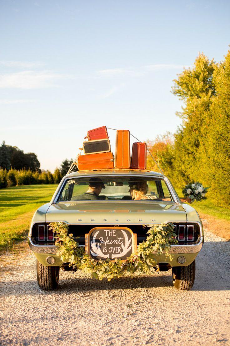 Wedding car decoration ideas   best VOITURE DES MARIES images on Pinterest  Marriage Wedding