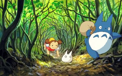 mei my-neighbor-totoro-crawling-through-bush