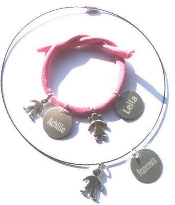 www.adesivifamiglia.it 6 euro mammacharm con pendente bimbo/bimba e tag col nome inciso! In argento tibetano