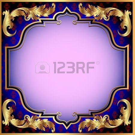 15559155-Иллюстрация-темно-синий-фон-с-золотым-растительным-ор�.jpg (450×450)