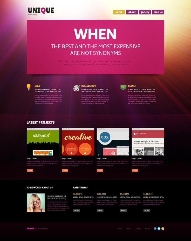 'Unique Design' #webdesign for #Joomla 3 Template 47112 http://zign.nl/47112