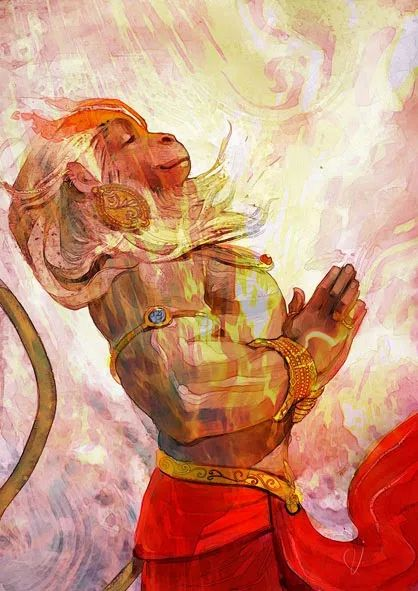 His love is his Strength- Lord Hanuman