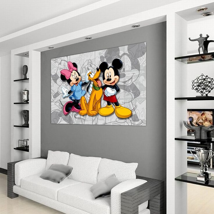 30 best chambre enfant mickey minnie mouse disney images for Poster xxl chambre