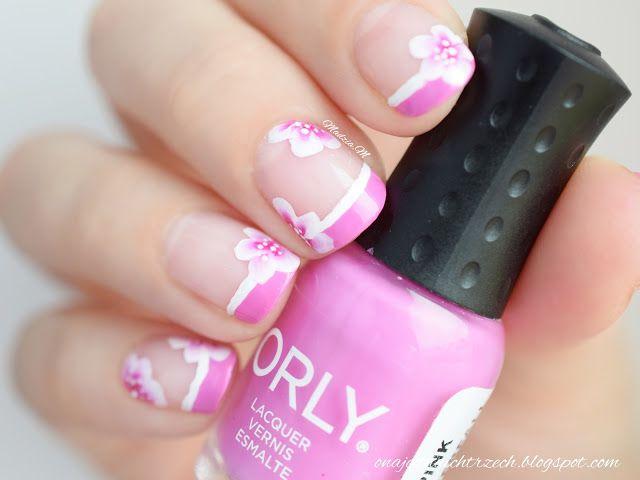 Funky French z Orly Pink Waterfall oraz farbkami RaPaint #FunkyFrench #PinkWaterfall #Orly #OneStroke #RaPaint  http://onajednaichtrzech.blogspot.com/2016/06/funky-french-z-orly-pink-waterfall-oraz.html