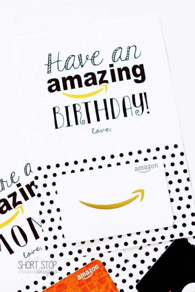 Amazon Gift Card Printables Birthday Gift Cards Itunes Gift
