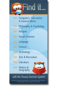 Dewey Decimal System Find It Kids Bookmark - Bookmarks - Products for Children - ALA Store