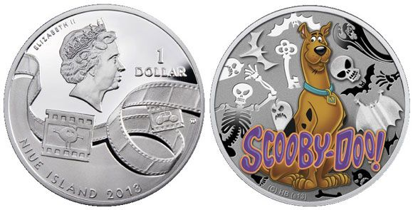 Scooby-Doo Featured on New Silver Coins | The latest coins from the pacific island of Niue include images of everyone's favorite Great Dane, Scooby-doo who hit the airwaves of American television on Saturday mornings beginning in 1969.