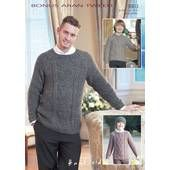 Sirdar Bonus Aran Tweed Sweater and Hat Leaflet