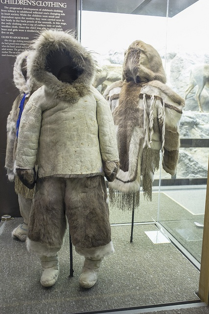 Inuit clothing display from the Manitoba Museum.